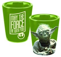 Image: Star Wars Ceramic Shot Glass: Yoda  -