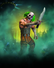 Image: Batman Arkham City Series 3 Action Figure: Clown Thug  (w/Knife) - DC Direct