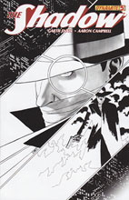 Image: The Shadow #5 (100-copy Cassaday B&W incentive cover) (v100) - D. E./Dynamite Entertainment
