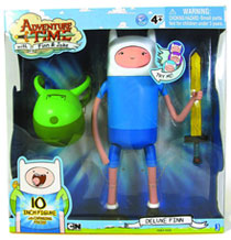 Image: Adventure Time 10-inch Super-Posable Finn Action Figure  -