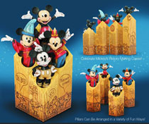 Image: Disney Traditions Mickey Through the Years Pillar Set  -
