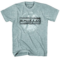 Image: S.H.I.E.L.D.: Grunged Stamp T-Shirt [Heather Grey]  (XL) -