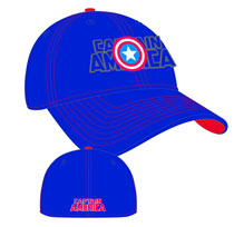 Image: Marvel Word Classic Stretch Fit Cap: Captain America  -