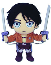 Image: Attack on Titan Plush: Eren  -