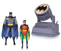 Image: Batman: The Animated Series Figures 2-Pack: Batman & Robin with Bat-Signal  - DC Comics