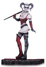 Image: Batman: Arkham Asylum Statue - Harley Quinn Red, White and Black   - DC Comics