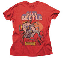 Image: Blue Beetle T-Shirt [Red Heather]  (XXL) - Junk Food Clothing
