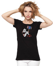 Image: Harley Quinn Women's T-Shirt: Hit by Conner  (L) - Graphitti Designs