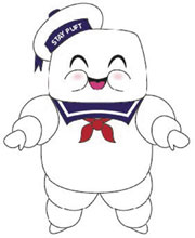 Image: Phunny Ghostbusters Plush: Stay Puft  - Beautiful Plastic