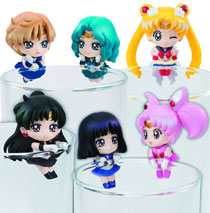 Image: Sailor Moon Ochatomo Cosmic Heart Cafe Mini Figure 8-Piece Blind Mystery Box Display  - Megahouse Corporation
