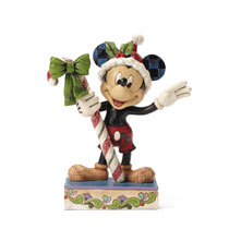 Image: Disney Traditions Figure: Mickey with Candy Cane  - Enesco Corporation