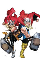 Image: Generations: Unworthy Thor & Mighty Thor #1 (variant cover - Coipel) - Marvel Comics