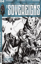 Image: Sovereigns #4 (Desjardins b&w incentive cover - 04051) (10-copy) - Dynamite
