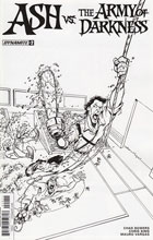 Image: Ash vs. the Army of Darkness #2 (Vargas b&w incentive cover - 02051) (20-copy) - Dynamite