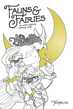 Image: Fauns and Fairies Adult Coloring Book  - Oni Press Inc.