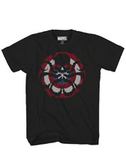 Image: Marvel T-Shirt: Captain Hydra [Black]  (XXL) - Mad Engine