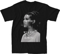 Image: Star Wars T-Shirt: Leia and the Force [Black]  (L) - Mighty Fine