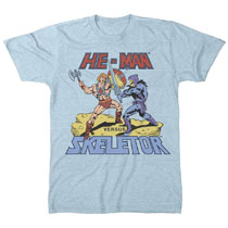 Image: Master of the Universe T-Shirt: He-Man vs. Skeletor [Sky Blue]  (M) - Freeze Cmi