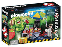 Image: Ghostbusters Playmobil Play-Set: Slimer w/Hot Dog Stand  - Playmobil Usa