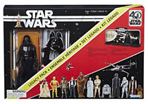 Image: Star Wars: Black 40th Anniversary Legacy 6-inch Action Figure Set Case  - Hasbro Toy Group