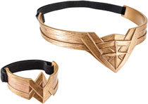 Image: Wonder Woman Movie Headdress & Arm Band Case  - Mattel Toys