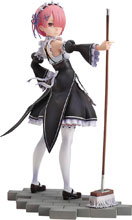 Image: Re Zero Starting Life in Another World PVC Figure: Ram Maid  (1/7-scale) - Good Smile Company
