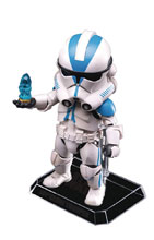 Image: Star Wars Ep3 EAA-031D Action Figure: 501st Clone Trooper  - Beast Kingdom