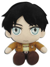 Image: Attack on Titan Plush: Eren  (Sitting Pose) (8-inch) - Great Eastern Entertainment