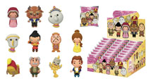 Image: Disney Beauty & the Beast Cut Figural Keyring 24-Piece Blind Mystery Box Display  - Monogram Products