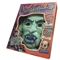 Image: Ghoulsville Vac-Tastic Plastic Mask: Crypt Vampire  (Glow-in-the-Dark) - Retro-A-Go-Go! LLC