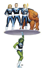 Image: Avengers #6 (variant Return of Fantastic Four cover - Cassaday) - Marvel Comics