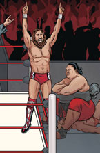 Image: WWE #20 (variant connecting cover - Schoonover Raw) - Boom! Studios