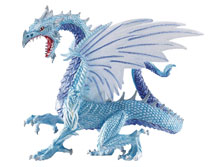 Image: Safari Table Top Figurine: Ice Dragon  - Safari Ltd.