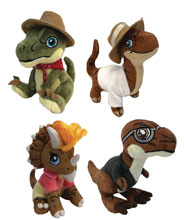 Image: Jurassic Park Clawzplay Plush Assortment  (8-inch) - Factory Entertainment