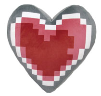 Image: Legend of Zelda Cushion: Heart Container  (13-inch) - Little Buddy, LLC