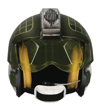 Image: Star Wars: Rebel Pilot Helmet Replica: Gold Leader  - Anovos Productions, LLC