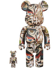 Image: Phil Frost 100 & 400 Bearbrick 2-Pack  - Medicom Toy Corporation