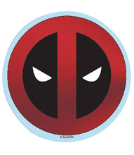 Image: Marvel Heroes Vinyl Decal: Deadpool - Foil Logo  - Elephant Gun, LLC