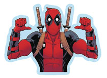 Image: Marvel Heroes Vinyl Decal: Deadpool - Thumbs  - Elephant Gun, LLC