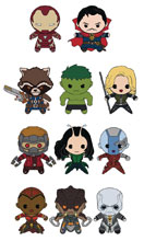 Image: Avengers: Infinity War Series 1 Laser Cut Figural Keyring 24-Piece Blind Mystery Box Display  - Monogram Products