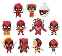 Image: Deadpool Series 3 Laser Cut Figural Keyring 24-Piece Blind Mystery Box Display  - Monogram Products