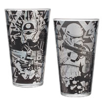 Image: Star Wars: Solo Glass Set - 2-Piece Laser Decal  (16 ounce) - Vandor LLC