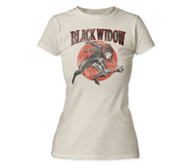 Image: Black Widow T-Shirt: Retro [White]  (S) - Impact Merchandising