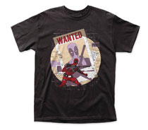 Image: Deadpool T-Shirt: Wanted [Black]  (S) - Impact Merchandising