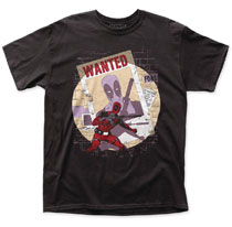 Image: Deadpool T-Shirt: Wanted [Black]  (XL) - Impact Merchandising