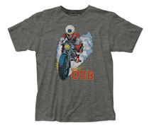 Image: Orb T-Shirt: Motorcycle [Heather Black]  (S) - Impact Merchandising