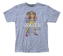 Image: Spider-Man T-Shirt: Kraven Hunter [Heather Blue]  (L) - Impact Merchandising