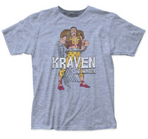 Image: Spider-Man T-Shirt: Kraven Hunter [Heather Blue]  (XL) - Impact Merchandising