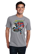 Image: Action #1000 T-Shirt: Superman 1930s  (XXL) - Graphitti Designs
