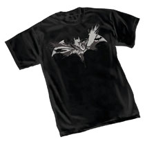 Image: Batman T-Shirt: B&W Symbol  (L) - Graphitti Designs